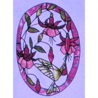 Hummingbird & Fuchsias - Product Image