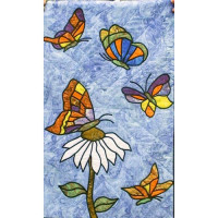 Butterfly with Daisies - Product Image