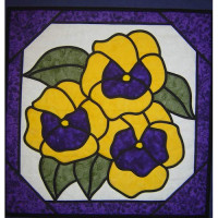 Pansies - Stained Glass - Product Image
