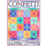 """Confetti Gradient Crystals #2  68"""" x 68"""" - Product Image"""