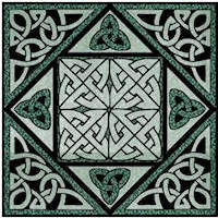 Iona Knot Celtic Block - Product Image