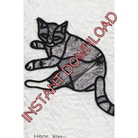 Here KittyDownloadable Pattern - Product Image