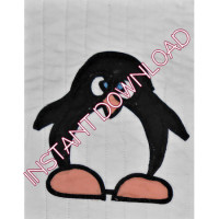 Homespun ChristmasSilly PenguinDownloadable Pattern - Product Image