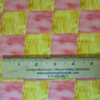 Pink & Yellow Squares - Product Image