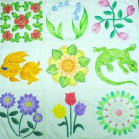 "Quilt As You Go Pre-Quilted 12"" Blocks - Product Image"