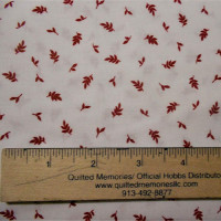 White with Small Red Leaves - Product Image