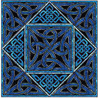 Square Knot Celtic Block - Product Image